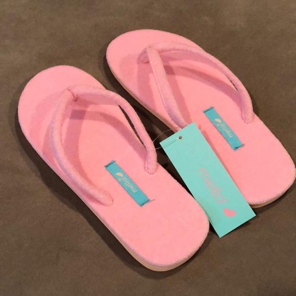 baf0d8523 MELLA Pink Terry Flip Flops - Size M (7 8) - NWT!